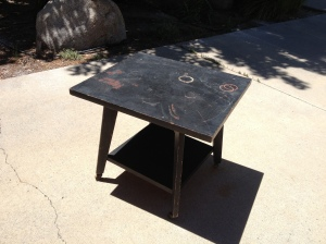 upcycle table before