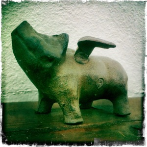 This cutie pig was the first in the collection. Love at first site, thanks to Mary Miller.